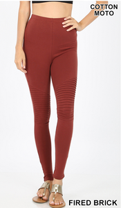 Leggings, Full length with pin tuck details