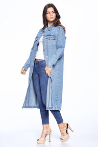 Janet, Long Denim Dress Jacket