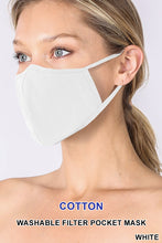 Load image into Gallery viewer, Cotton Jersey Seamed Face Mask