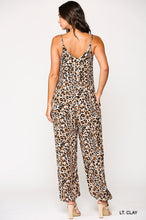 Load image into Gallery viewer, Alena, One Piece Leopard Print Jumpsuit with pockets