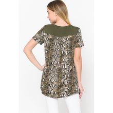 Load image into Gallery viewer, Canton, Cross Neck Short Sleeve Luxe Knit Tunic