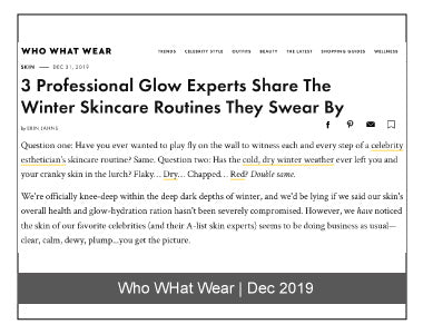 Who What Wear December 2019 Dr. Nigma Talib