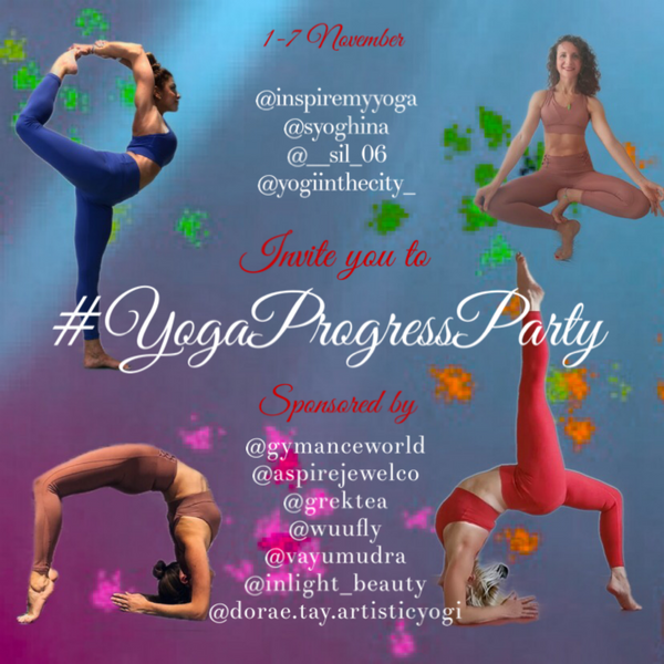 You are invited to our 🎉 🧘🏽‍♀️🥳 🎈 #YogaProgressParty 🎈🥳🧘🏽‍♀️🎉