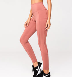 Dusky Pink- LEGGINGS -HIGH WAISTED - Gymance