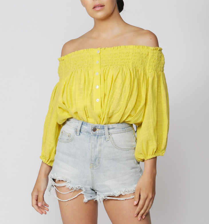 Free People Dancing Til Dawn Bardot Top