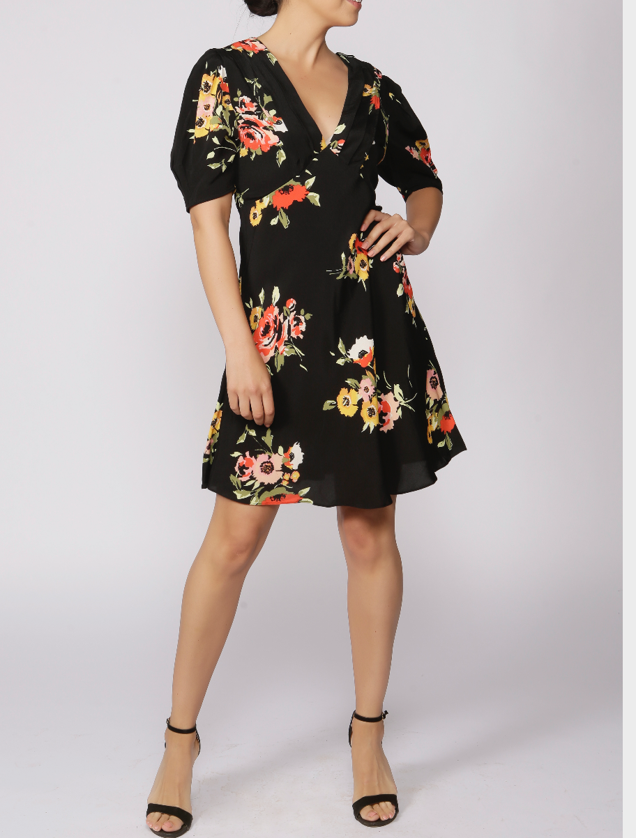 Free People Garden Floral Mini Dress