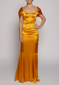 De La Vali Orange Alma Dress -  RRP £650