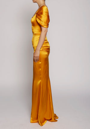 De La Vali Orange Alma Dress