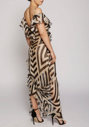De La Vali Chevron Jolene Dress