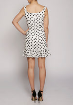 De La Vali Polka Dot Christabel Mini Dress