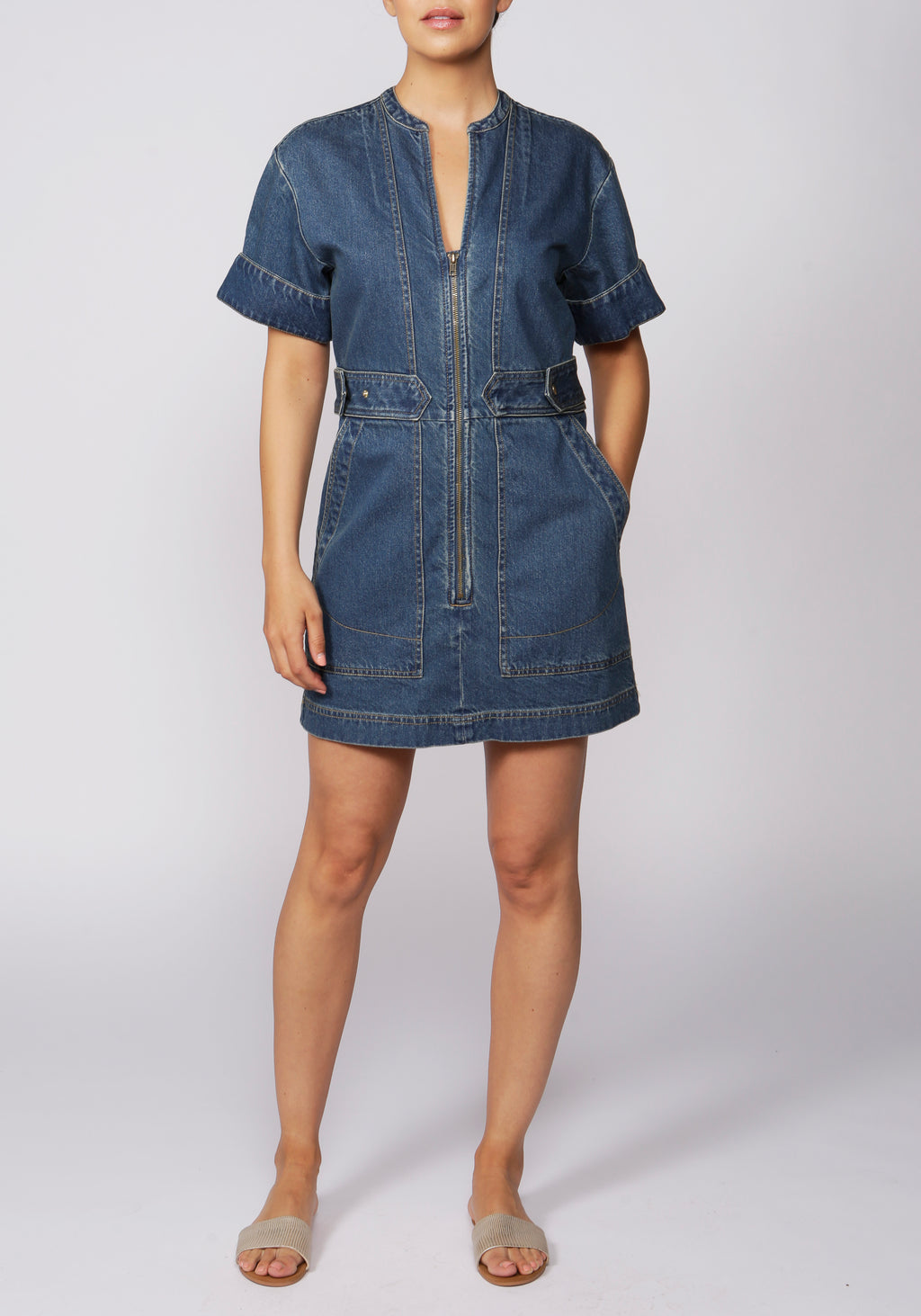 Free People Dream On Denim Mini