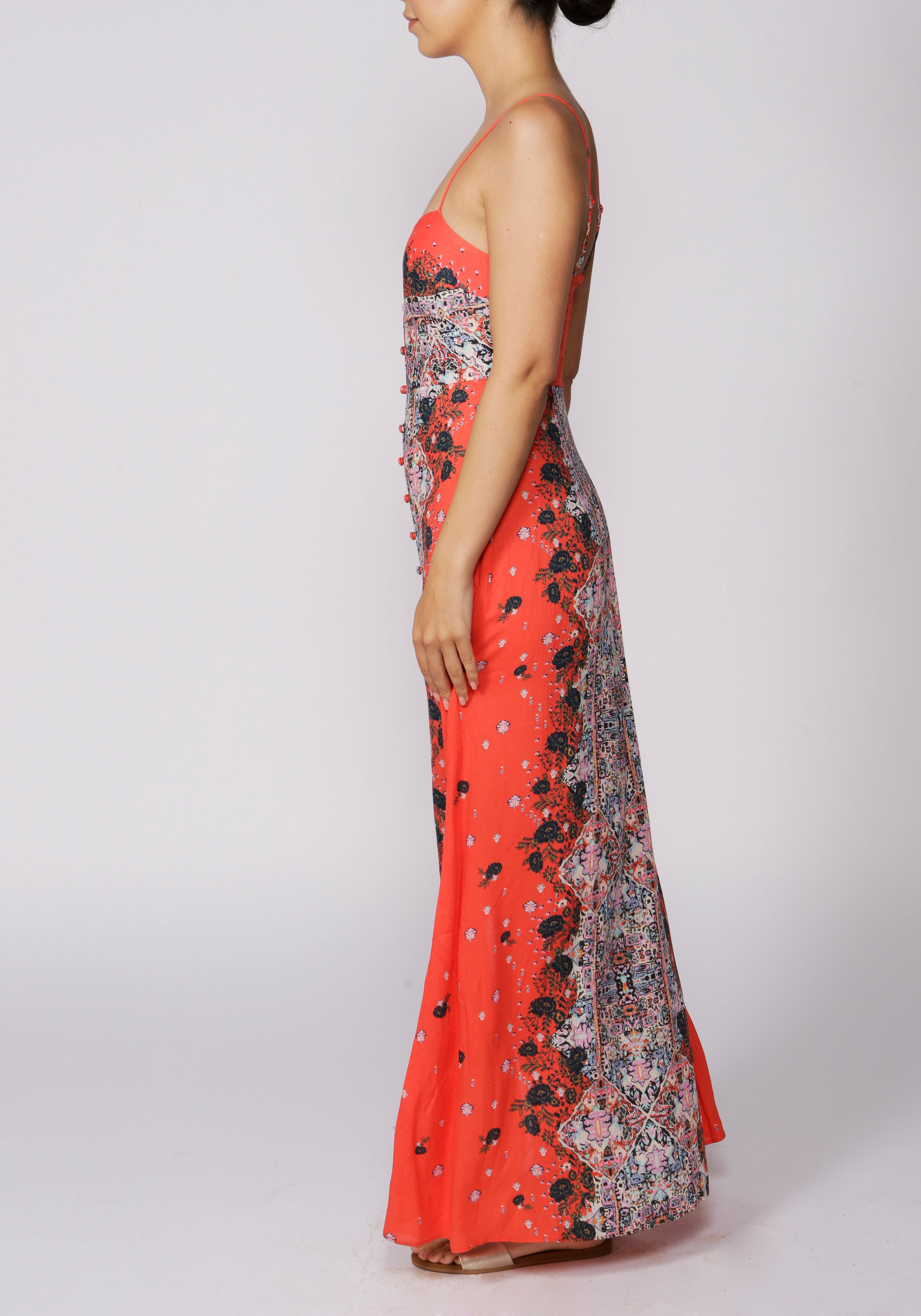 Free People Morning Song Red Printed Maxi Dress - RRP £98