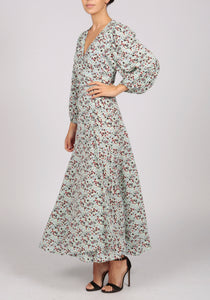 Essentiel Antwerp Mint Floral Print Wrap Dress