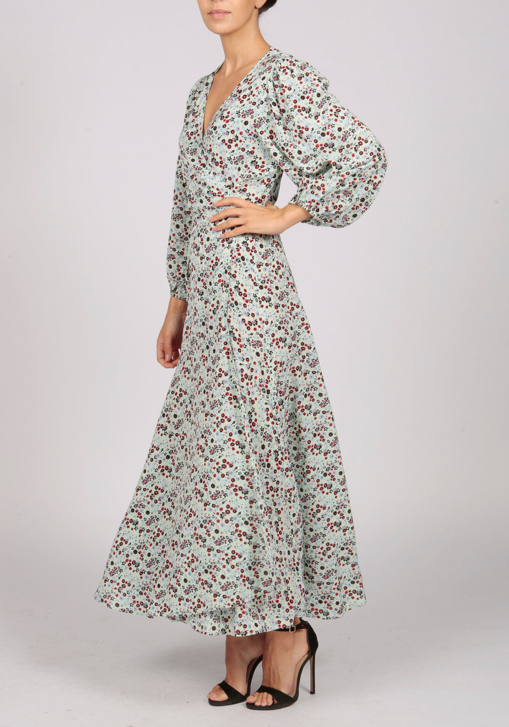 Essentiel Antwerp Mint Floral Print Wrap Dress - RRP £270