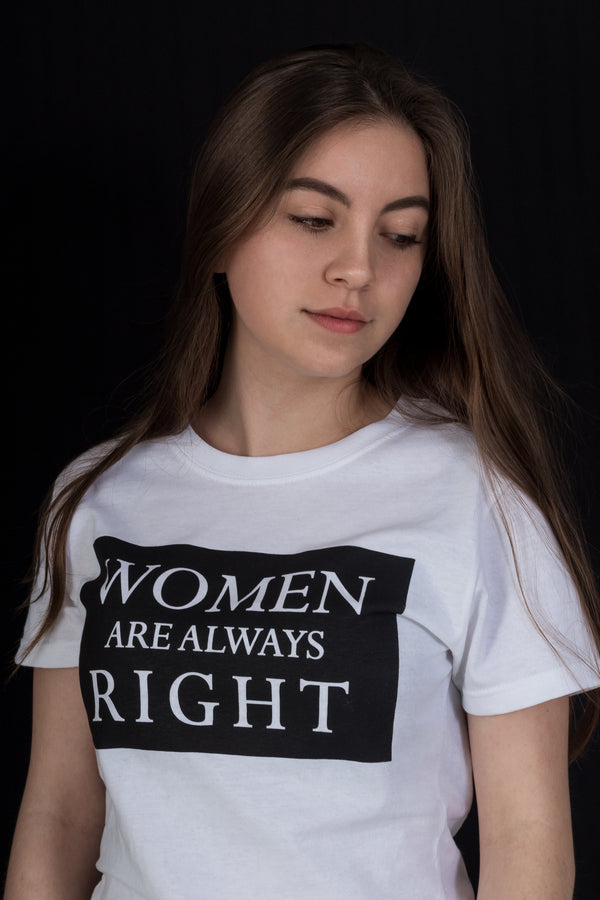Women Are Always Right Playeras Argus X- Playeras de la más alta calidad. Envíos Internacionales.