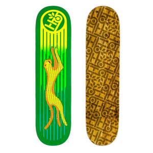 Habitat Skateboards - Neon Cheetah Deck - 8""