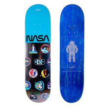 Load image into Gallery viewer, HABITAT SKATEBOARDS - NASA LOGO ARRAY BLUE DECK - 8.25""