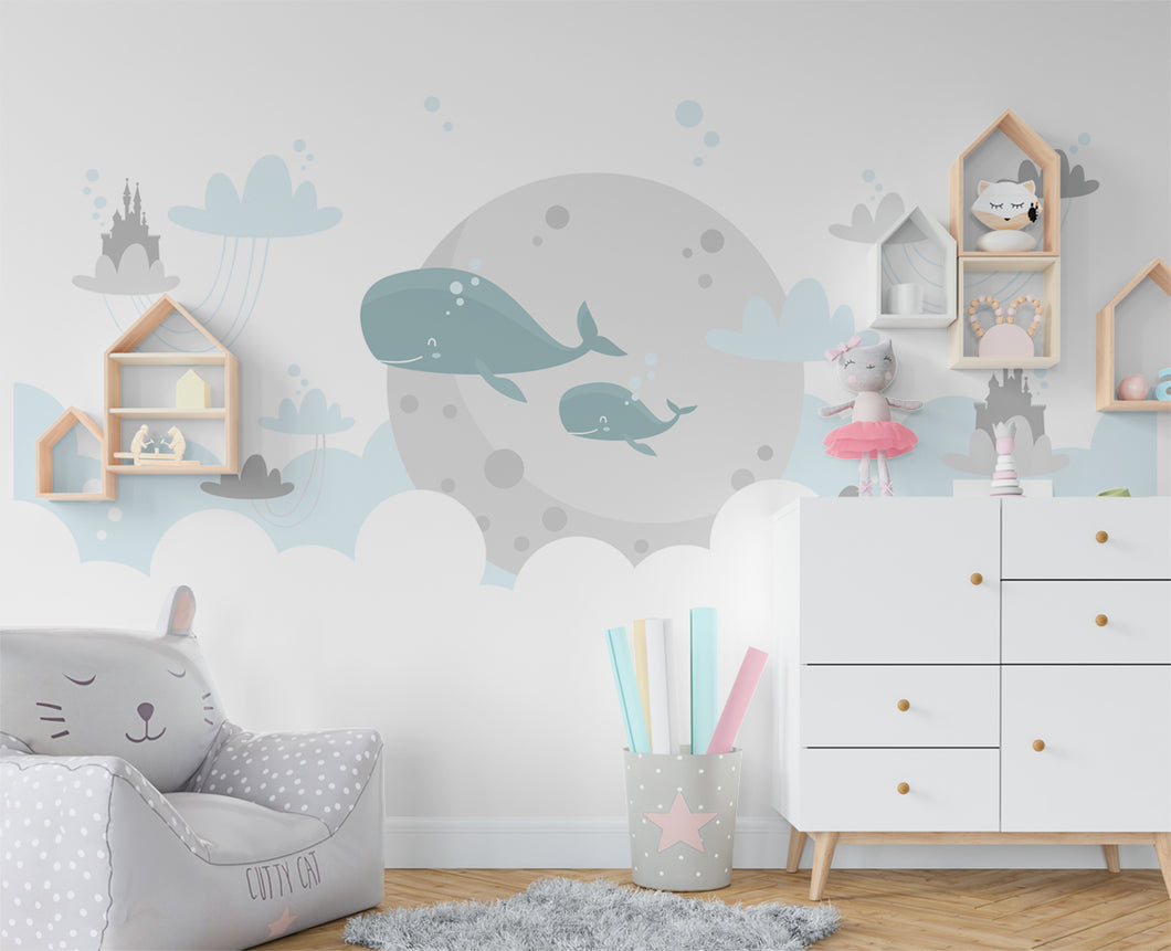 Oceanic Nursery Wallpaper