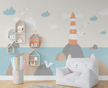 Load image into Gallery viewer, Nautical Nursery Wallpaper