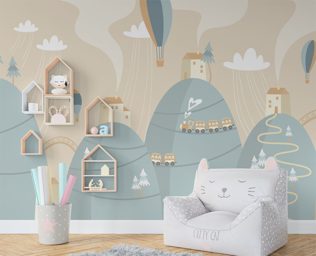 City Dweller Nursery Wallpaper