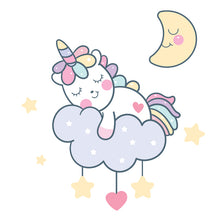 Load image into Gallery viewer, Sleeping Unicorn Stickers