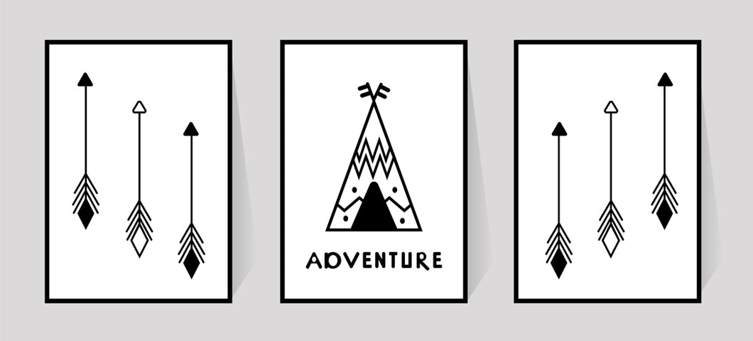 Camping Adventure - set of 3