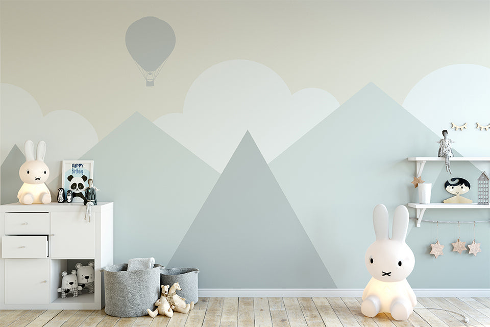 Baby Mountain Nursery Wallpaper