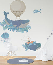 Load image into Gallery viewer, Whale of a time wall sticker
