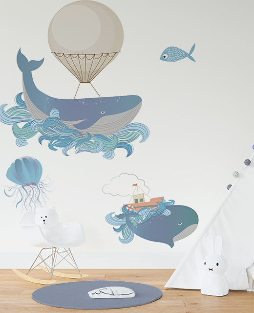 Whale of a time wall sticker