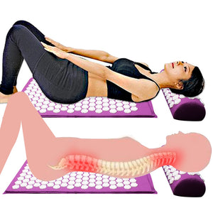Acupressure Mat and Pillow for Back Pain Relief