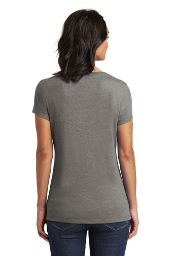 Ladies' Casual Cut V-neck Tee- DT6503