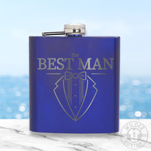 Load image into Gallery viewer, Best Man Metal Flask