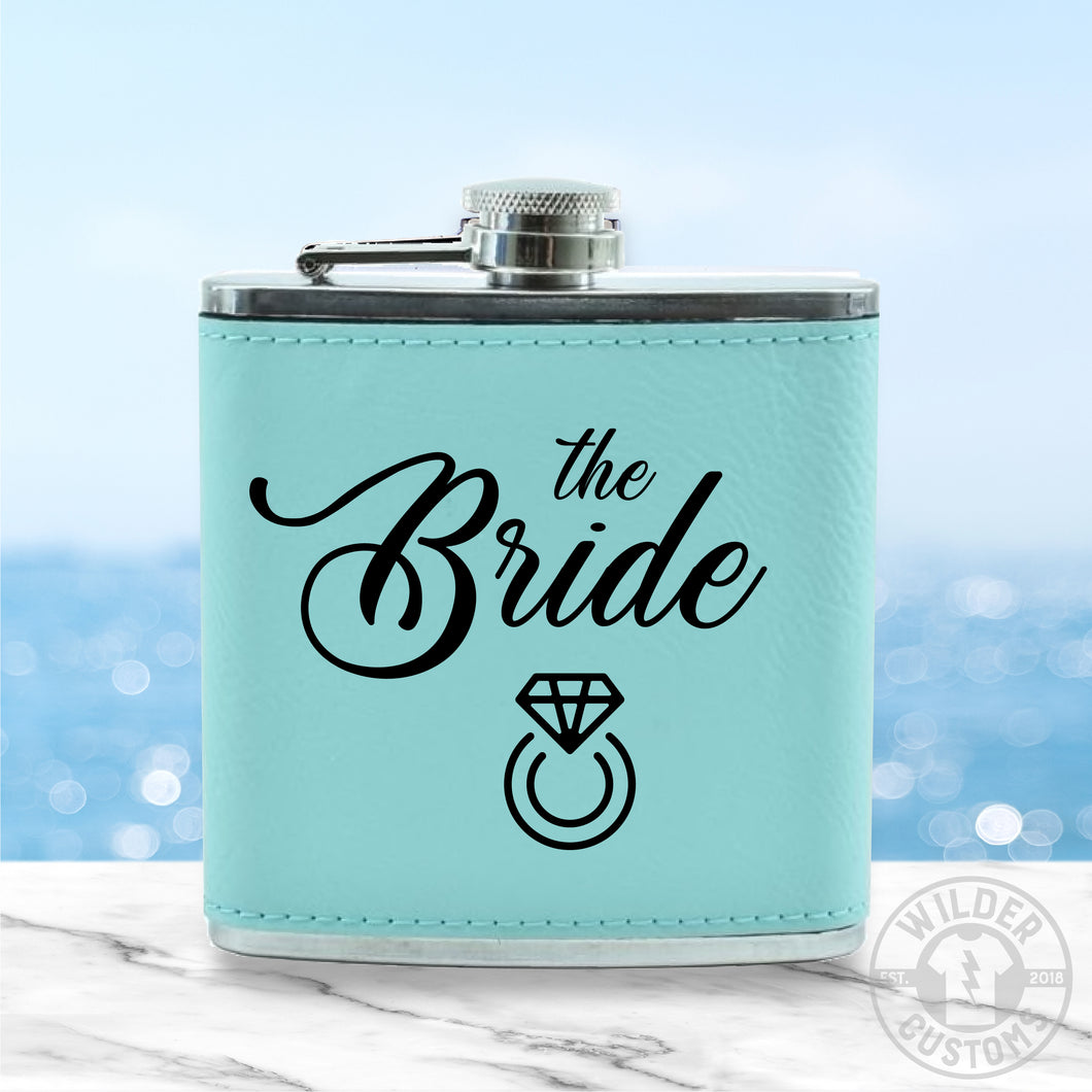 Bride Leather Flask