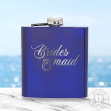 Load image into Gallery viewer, Bridesmaid Metal Flask