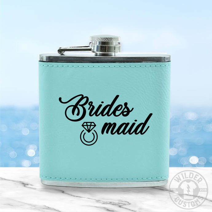 Bridesmaid Leather Flask