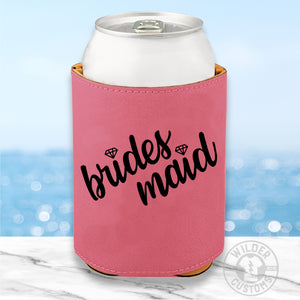 Open image in slideshow, Bridesmaid Leather Koozie