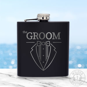 Open image in slideshow, Groom Metal Flask
