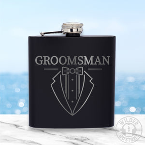 Open image in slideshow, Groomsman Metal Flask