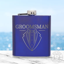 Load image into Gallery viewer, Groomsman Metal Flask