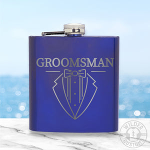 Groomsman Metal Flask