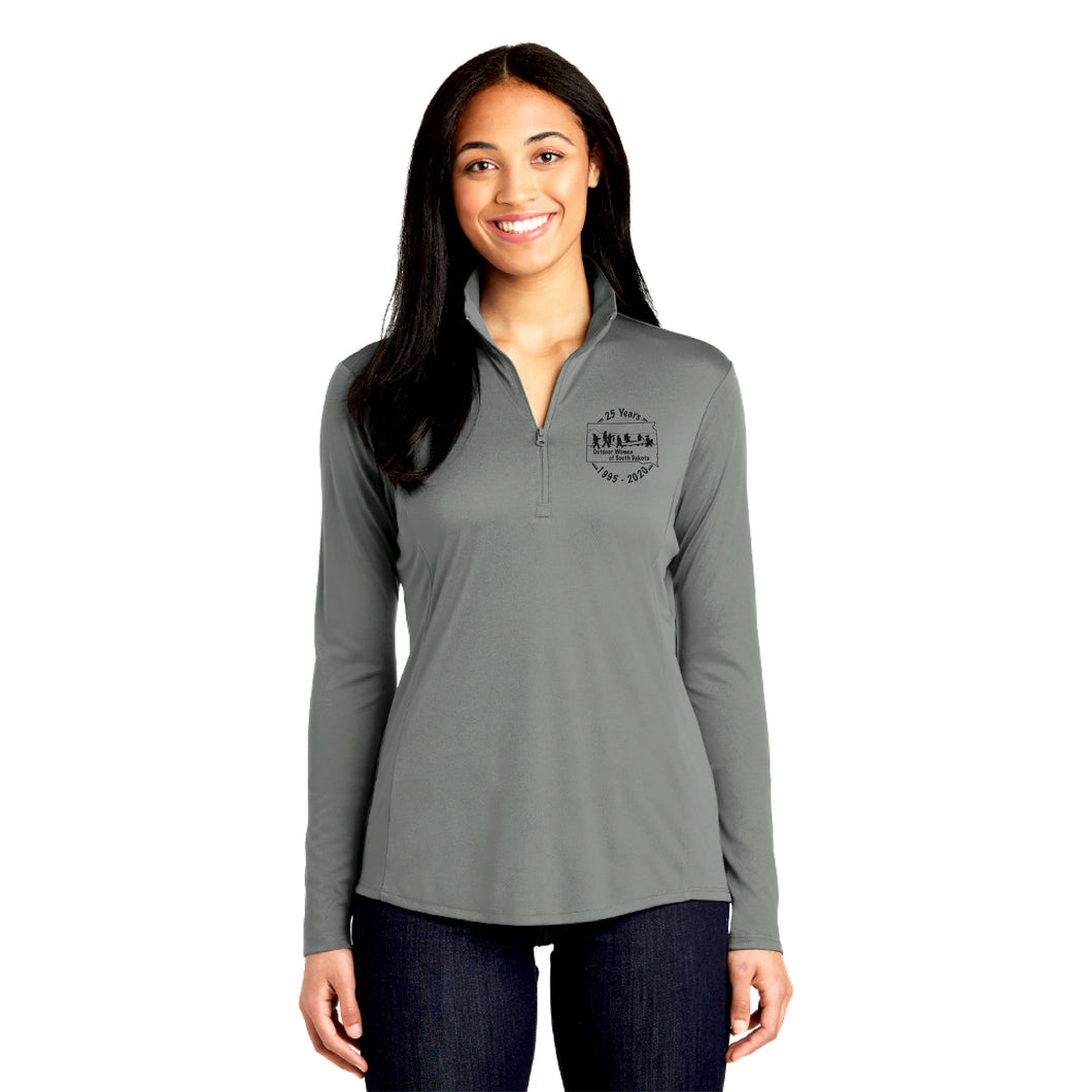 OWSD Quarter Zip - grey