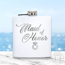 Load image into Gallery viewer, Maid of Honor Metal Flask