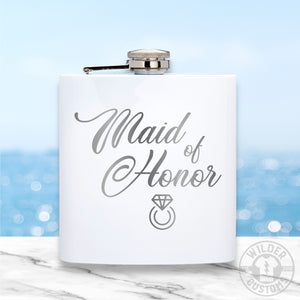 Open image in slideshow, Maid of Honor Metal Flask