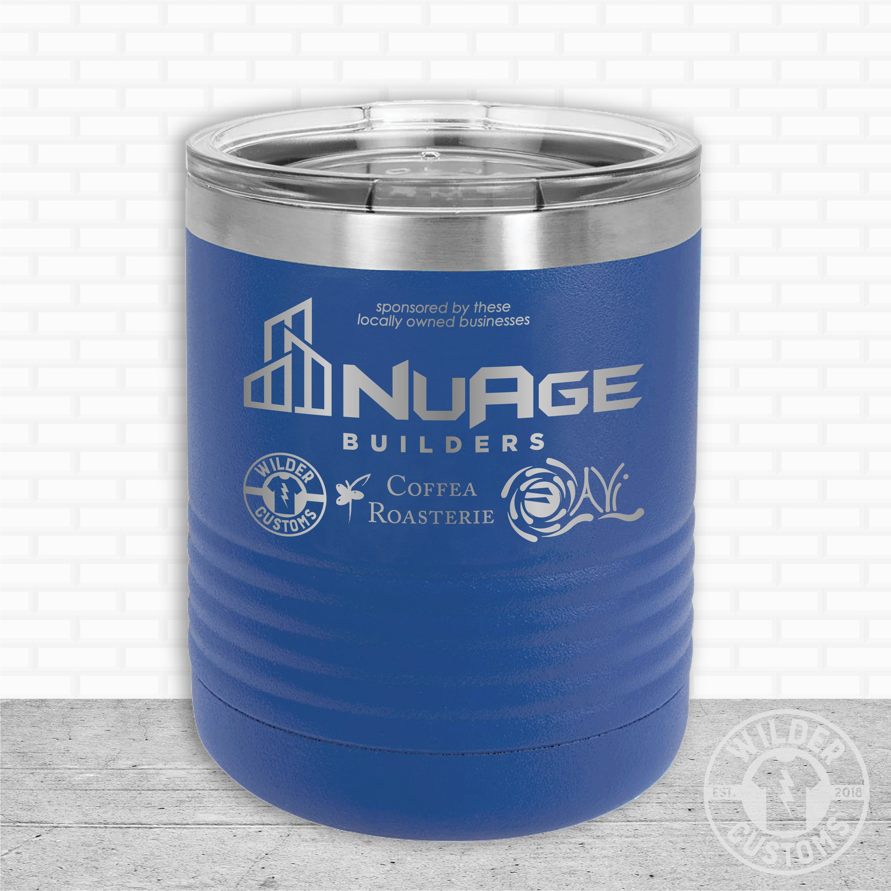Sioux Falls Strong Lowball Tumbler- Royal NuAge