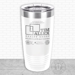 Sioux Falls Strong Highball Tumbler White- Tim Allex Realty