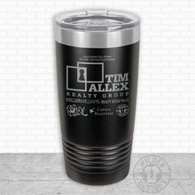 Load image into Gallery viewer, Sioux Falls Strong Highball Tumbler Black- Tim Allex Realty