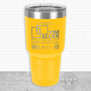 Sioux Falls Strong Bigmouth Tumbler Yellow- Tim Allex Realty