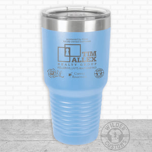 Sioux Falls Strong Bigmouth Tumbler LtBlue- Tim Allex Realty