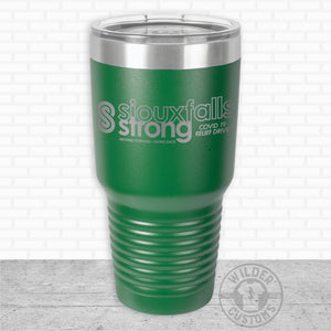 Sioux Falls Strong Bigmouth Tumbler Green- Tim Allex Realty