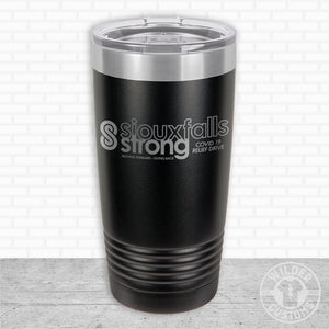 Sioux Falls Strong Highball Tumbler Black- Tim Allex Realty
